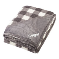 FIELD AND CO DOUBLE SIDED PLAID SHERPA BLANKET